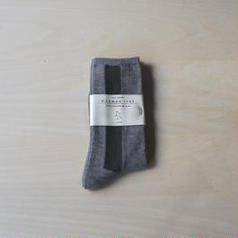 メンズ靴下 -gray×moss green-