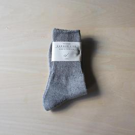 メンズ靴下 -smoke gray-