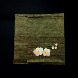 obiobi ブックカバー 紅梅 茶