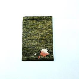 パスポートケース 桜 黒