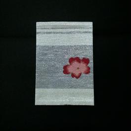パスポートケース 桜 グレー