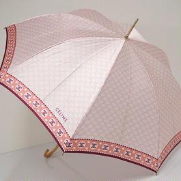 A5631 CELINE セリーヌ 高級傘 USED美品 マカダム 絶版 ピンク 58cm 中古ブランド