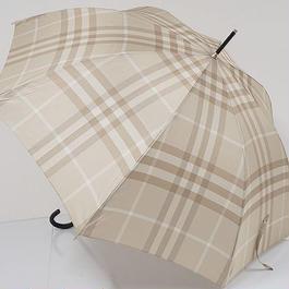 S0546 BURBERRY バーバリー 高級傘 USED超美品 サンドベージュチェック  60cm 中古 ブランド