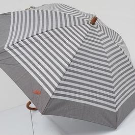A0789 La pioggia ラ ピオッジア 晴雨兼用日傘 USED超美品 ボーダー UV 47cm 中古 ブランド