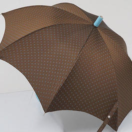 S0545 Maglia Francesco マリアフランチェスコ 傘 USED超美品 フラワードット 52cm イタリア製 中古 ブランド