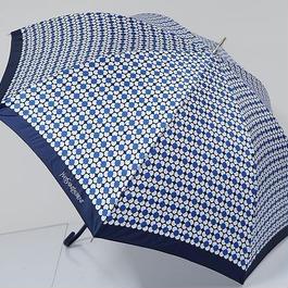 S9868 YSL イヴサンローラン 耐風傘 USED極美品 キュートフラワー ジオメトリック 中古 ブランド