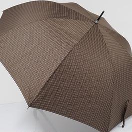 A0660 U by ungaro ウンガロ 紳士傘 USED超美品 チェック 格子 大判 65cm 中古 ブランド