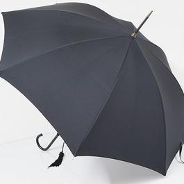 S0668 FOX UMBRELLAS フォックス 高級傘 USED極美品 細革巻 英国製 レザー手元 51cm 中古 ブランド