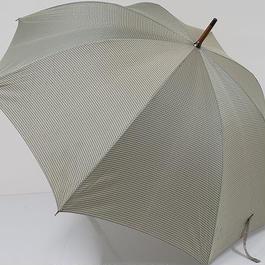 A0664 cK カルバンクライン 紳士傘 USED美品 チェック 格子 大判 65cm 中古 ブランド
