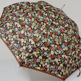 A0476 CHARLES JOURDAN シャルルジョルダン 耐風傘 USED超美品 フラワー ボタニカル 60cm 中古 ブランド