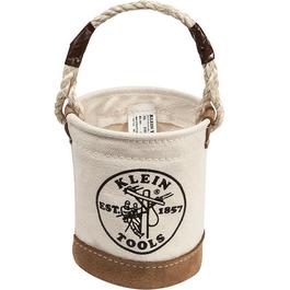 Mini Leather-Bottom Bucket