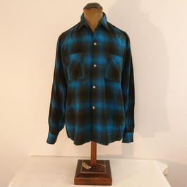 「BRENT」 Ombre  check   shirt