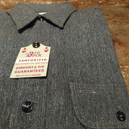 1950s  Dead stock   Black chambray  Shirt