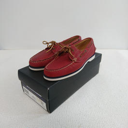 「POLO   RALPH  LAUREN」    Deck shoes 【Red】