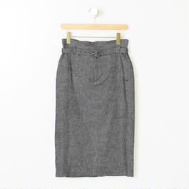 ベルト付デニム風スカート