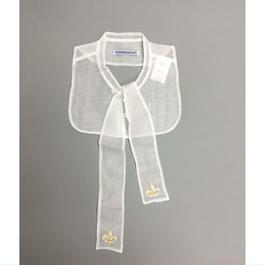 HAND EMBROIDERED RIBBON COLLAR ハンド刺繍リボンカラー百合の紋章