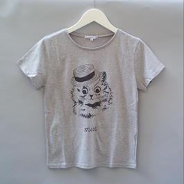 London Cat T-Shirt グレー