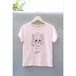 New York Cat T-Shirt ピンク