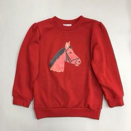 HORSE SWEATSHIRTS RED ホーススウェットレッド