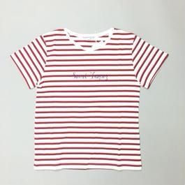 SAINT-TROPEZ T-SHIRTS RED/ サントロペボーダーTレッド