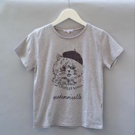 Paris Cat T-Shirt グレー