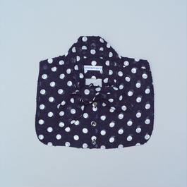 Bow Collar/ Navy dot