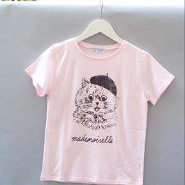 Paris Cat T-Shirt ピンク