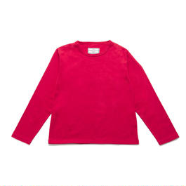 30/-x2 INDIA PLAIN CREW NECK TEE L/SLEEVES(45 RED)