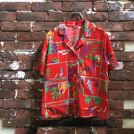 VINTAGE LADIES COTTON HAWAIIAN SHIRT
