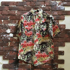 90S ROCK MOUNT COTTON PULL OVER HAWAIIAN SHIRT
