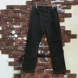 80-90S LEVIS 501 0658 BLACK DENIM PANTS