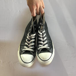 """CONVERSE ALL STAR LEATHER """"BLACK"""""""