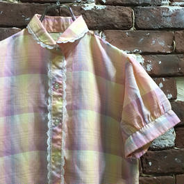 VINTAGE LADIES CHECK BLOUSE