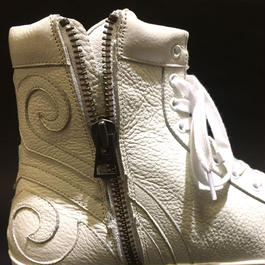 XROSS TRIBAL LEATHER SNEAKER/WHT