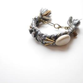 wood metal bracelet GRAY MIX