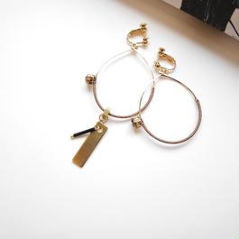 silk foop pierce/earrings  MOCHA BROWN