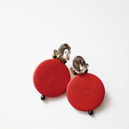 circle bijou pierce/earrings JAPANESE RED