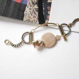ornament bracelet BEIGE