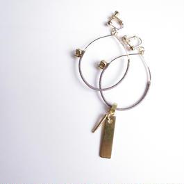 foop key pierce/earrings GRAY