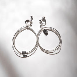 3line foop pierce/earrings SILVER