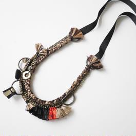 pulp fring long necklace ORANGE