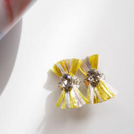 thread pierce / earrings YELLOW