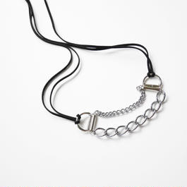 chain 2ways choker SILVER