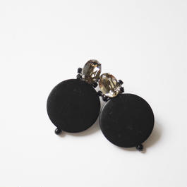 circle bijou pierce/earrings BLACK