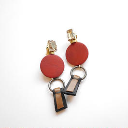 ornament pierce/earrings RED