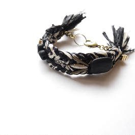 wood metal bracelet BLACK MIX