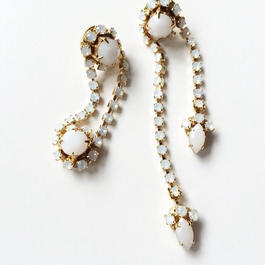 asymmetry pierce/earrngs WHITE