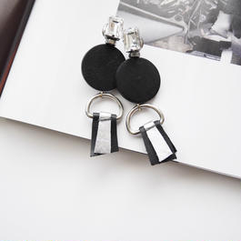 ornament pierce/earrings BLACK