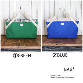 帆布のBAG(①GREEN②BLUE)