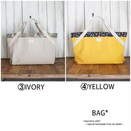 帆布のBAG(③IVORY④YELLOW)